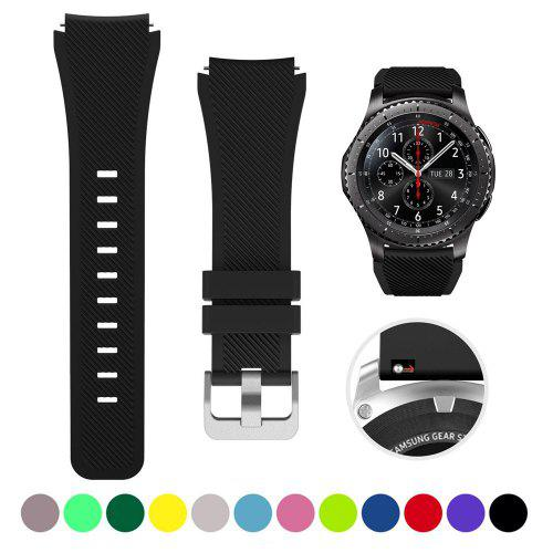 For Samsung Gear S3 Classic Silicone Fitness Band Strap /& Glass Screen Protector