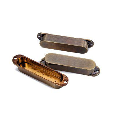 Bronze No Hole Closed Single Coil Pick Up Covers For Strat Style Electric Guitar
