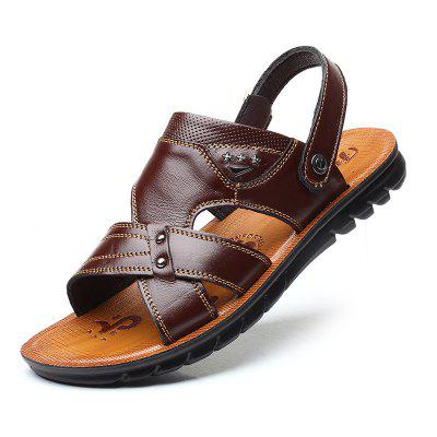 New First Layer Leather Beach Leather Men'S Sandals