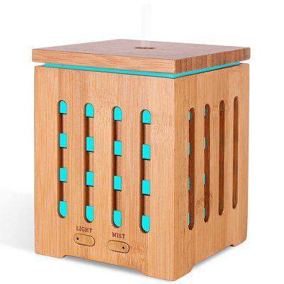 Natural Bamboo 7 Led Essential Oil Diffuser Aromatherapy Ultrasonic Humidifier