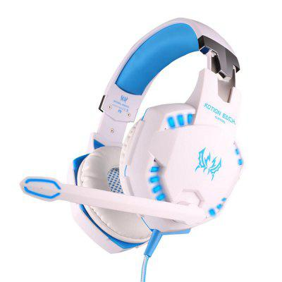 KOTION EACH Gaming Headphones Stereo Deep Bass Game Headset with Mic LED Light