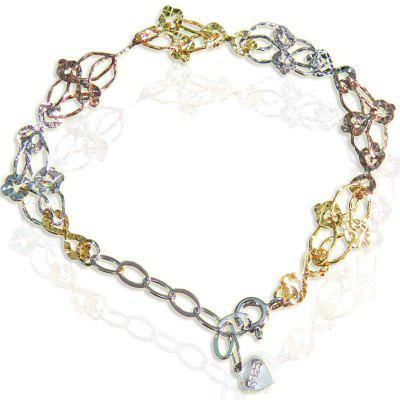 925 Sterling Silver Bracelet Gold Layered Ladies Jewelry