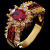 Fashion Fantastic Female Engagement Sapphire Ruby Ring - RUBY RED