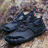 ZEACAVA Men Leisure Hiking Outdoor Sports Shoes - BLACK