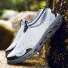 ZEACAVA Men's Large Size Outdoor Breathable Mesh Shoes - LIGHT GRAY
