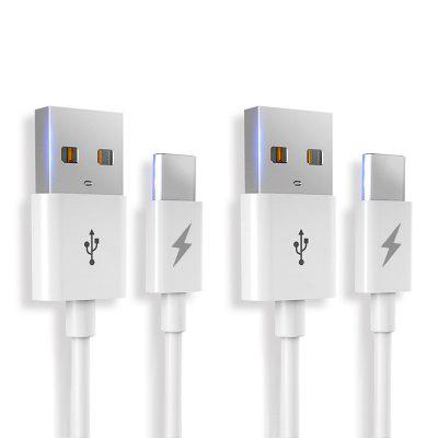 Minismile Schnellladung USB3.1 Type C Charge Sync-Kabel für Oneplus 6T / 5T 2PCS
