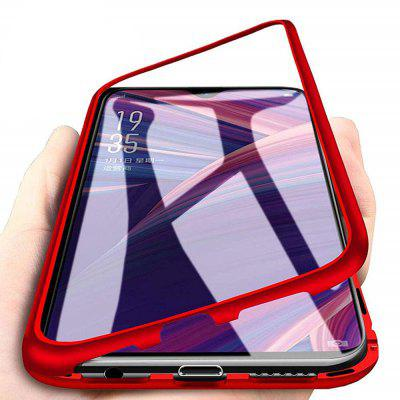 Magnetic Metal Tempered Glass Flip Case for Xiaomi Redmi Note 7/Note 7 Pro