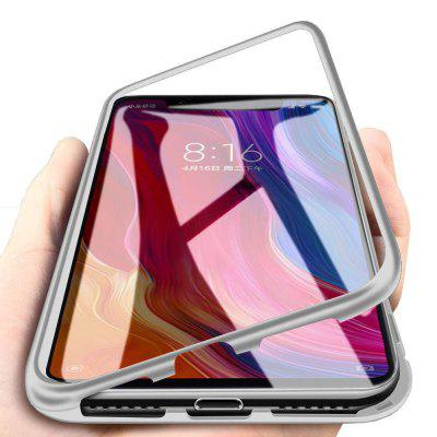 Magnetic Metal Tempered Glass Flip Case for Xiaomi Mi 8 Lite