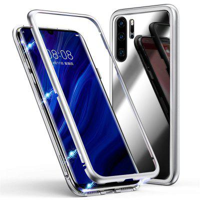 Magnetic Metal Tempered Glass Flip Case for Huawei P30 Pro