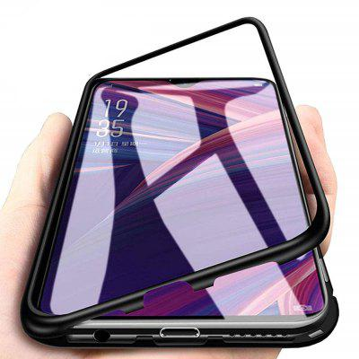 Magnetic Metal Tempered Glass Flip Case for OnePlus 6T