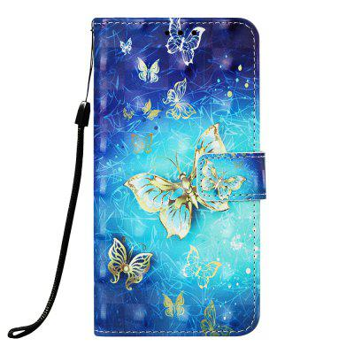 Butterfly Pattern 3D Wallet Flip Case for Xiaomi Redmi Note 7 / Note 7 Pro