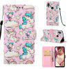 Unicorn Pattern 3D Wallet Flip Case for Xiaomi Redmi Note 7 / Note 7 Pro - MULTI
