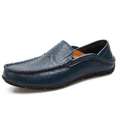 Men'S Plus Size British Wind Leather Loafers Shoes