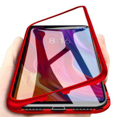 Magnetic Metal Tempered Glass Flip Case for Xiaomi Pocophone F1