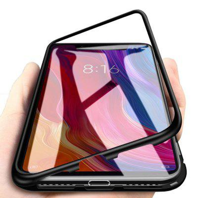 Magnetic Metal Tempered Glass Flip Case for Xiaomi Redmi Note 6/Note 6 Pro
