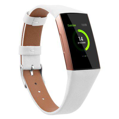 Watch Band Sport Band Genuine Leather Wrist Strap for Fitbit Charge 3