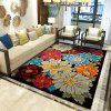 Printed Exquisite Soft Carpet for Living Room and Bedroom - BLACK