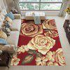 3D Red Print Exquisite Living Room Bedroom Super Soft Carpet - FIREBRICK