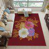 3D Red Print Exquisite Soft Carpet for Living Room and Bedroom - FIREBRICK