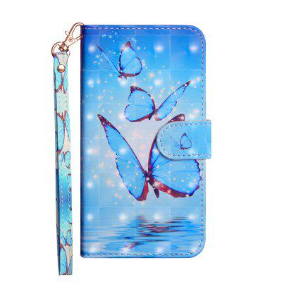 3D Color Painting Phone Case for Samsung Galaxy A50 Flip Wallet leather Cover