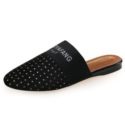 BAOYAFANG Flat Bottom Set Foot Point Round Head Muller Shoes