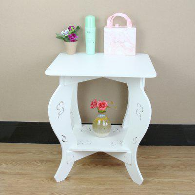 Home Multifunction Solid Color Hollow PVC Coffee Table Storage Rack