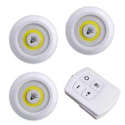 LED Under Cabinet Light Puck Lights Closets Lights with Remote Control 3pcs