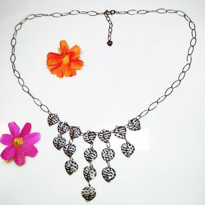 925 Sterling Silver Necklace White Gold Plated Jewelry