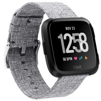 Vervanging canvas nylon band armband voor Fitbit Versa horloge