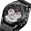 NAFIFORCE 9162 Men's Fashion Sports Waterproof Six-pin Quartz Watch - BLACK