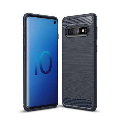 Carbon Fiber Brushed Mobile Phone Case for Samsung Galaxy S10