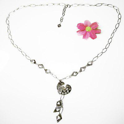 925 Sterling Silver Heart Pendant Necklace Rhodium Plated Jewelry