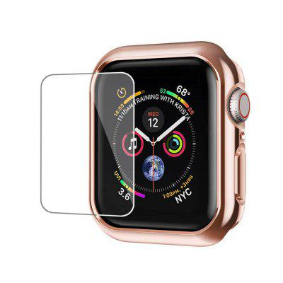 Bumper Hard Case Cover + Screen Protector Film For iWatch Series 4 44mm