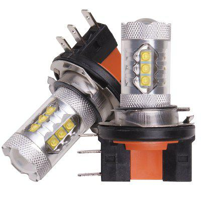 80W H15 5500K Car LED Bulb 2pcs