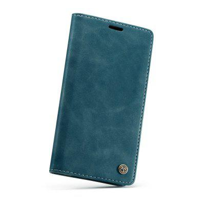 CaseMe Retro Flip Wallet PU Leather Phone Case with Stand for iPhone X / XS