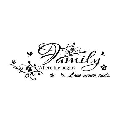 Creative Family Flower Camera de zi Background Wall Decoration Sticker