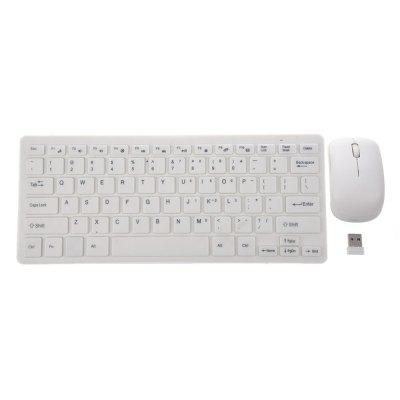 Ultra Thin 2.4G Wireless Keyboard Combo Set z odbiornikiem USB