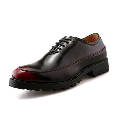Business Polyurethane Bottom Leather Shoes Increase Thick Bottom