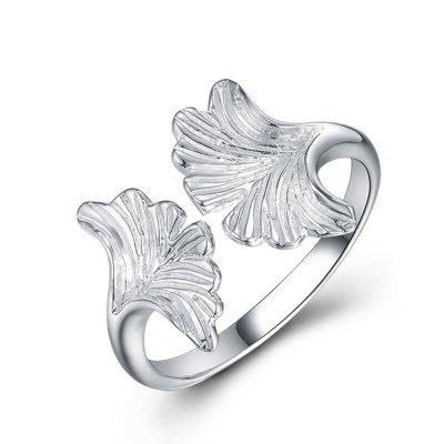 Sterling Silver Apricot Leaf Shape Fashion ring