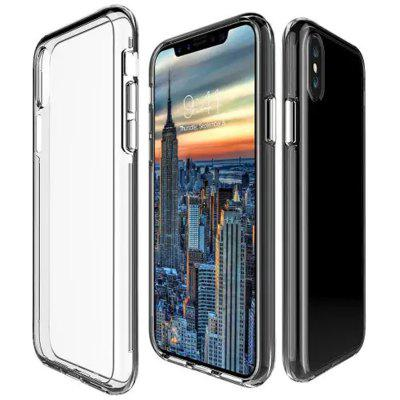 Shockproof Transparent Back Cover Case for iPhone  X