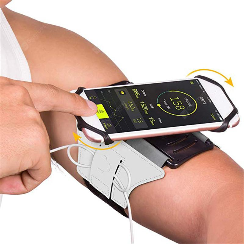 180 Degrees Rotatable Phone Armband with Key Holder