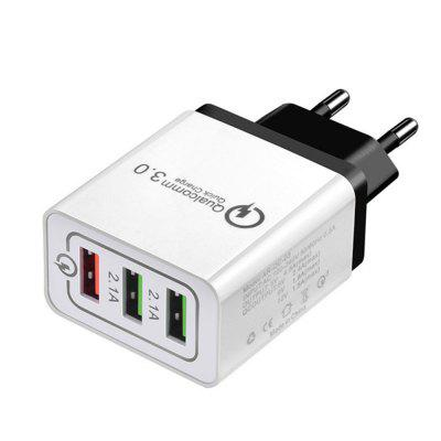 3 Port Fast Quick Charge QC 3.0 USB Hub Wall Charger Power Adapter EU Plug