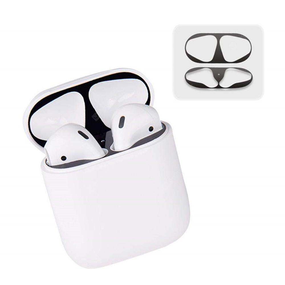 Bluetooth Headset Dust Guard Metal Sticker Cover Protect Case for AirPods