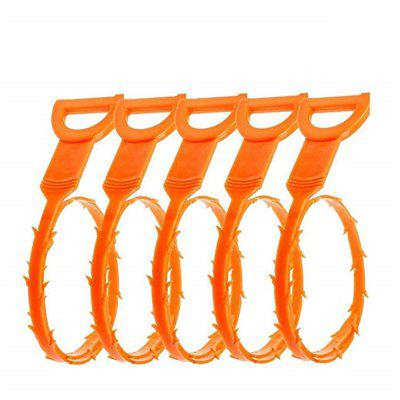 Drain Snake Hair Drain Remover Remover Drain Relief Auger Cleaning Tool 5PCS