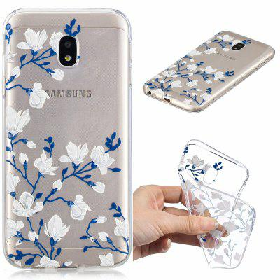 Magnolias Pattern Soft TPU Case for Samsung J530