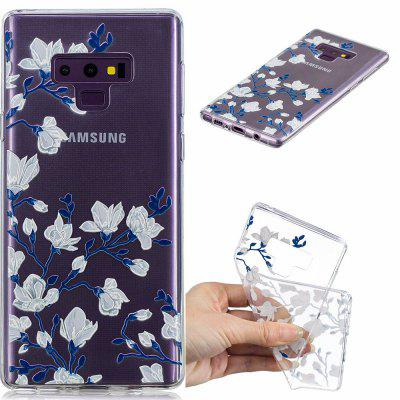 Magnolias Pattern Soft TPU Case for Samsung NOTE 9