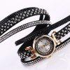 DUOYA Women Crystal Rhinestone Quartz Watch Leather Strap Bracelet Analog Watch - MULTI-G
