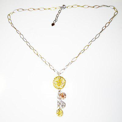 925 Sterling Silver Charms Pendant Necklace Gold Plated Jewellery