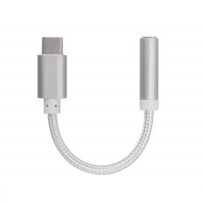Minimale USB Type-C tot 3,5 mm jack audio-adapterkabel