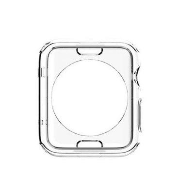Tempered Glass Watch Screen Protector+Soft TPU Case For iWatch Series 1 2 3 42MM